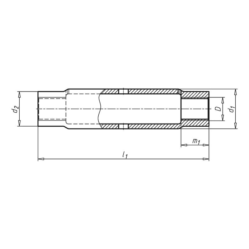 Spannschlossmutter aus Stahlrohr - SPNSHLOMU-DIN1478-S235JR-(TZN)-M10
