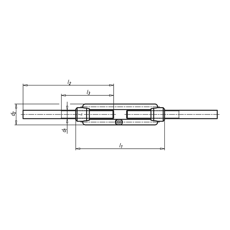 Turnbuckle, open form with welded ends - 2