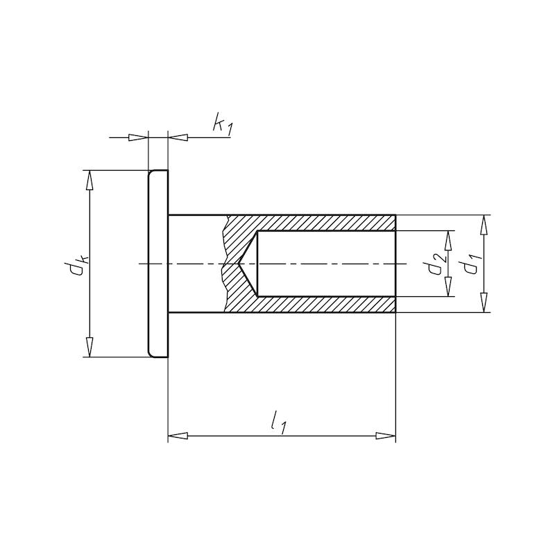 Niete für Brems- und Kupplungsbeläge - 2