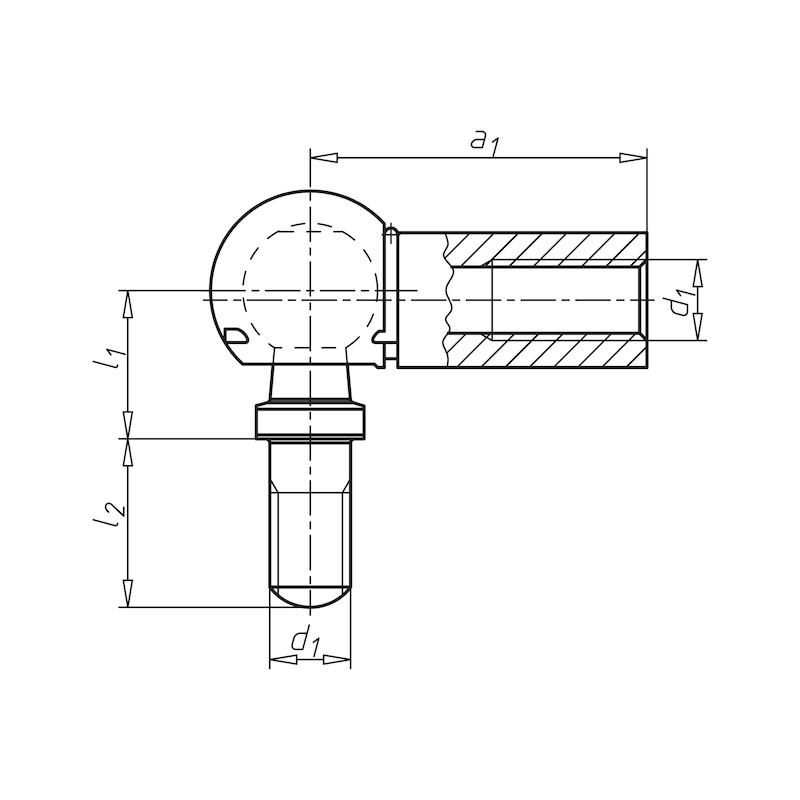 Rotule d'articulation avec circlips de retenue et étrier de sécurité TypeCS - 2