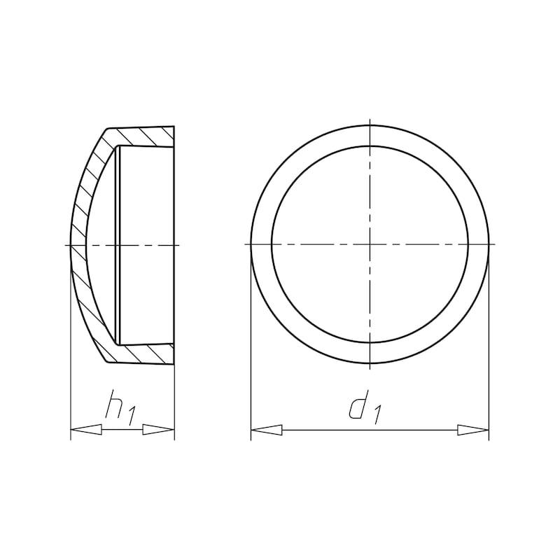 Abdeck- und Zierkappe für Nummernschildschraube - 2