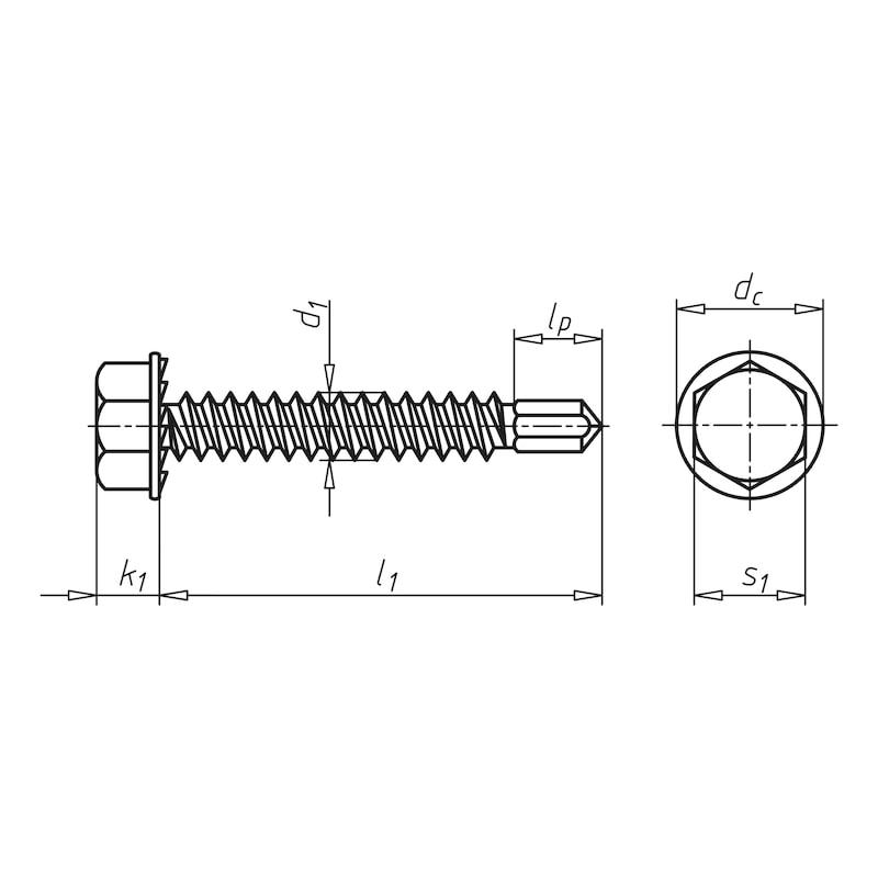 Bohrschraube Sechskantkopf mit Bund und Unterkopfverzahnung pias<SUP>®</SUP> - 2
