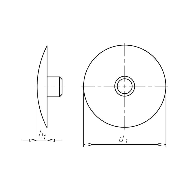 Abdeckkappe flach - ABDEKA-FL-(0910610)-SCHWARZ
