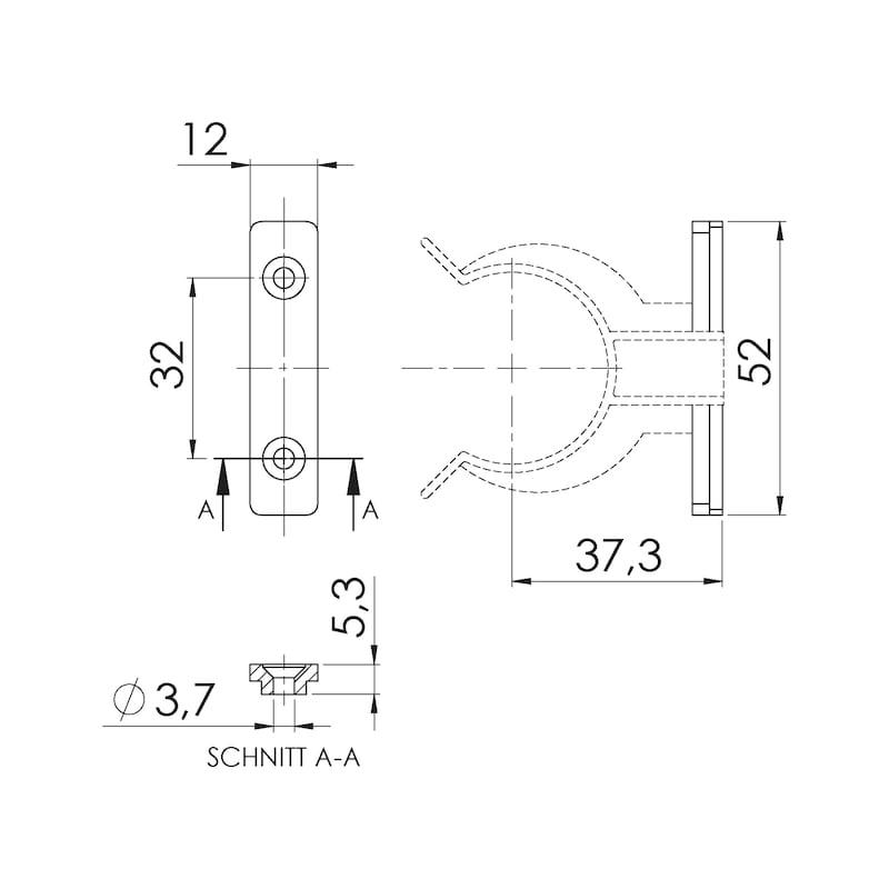 Sockelblenden-Klammerhalterung  - 2
