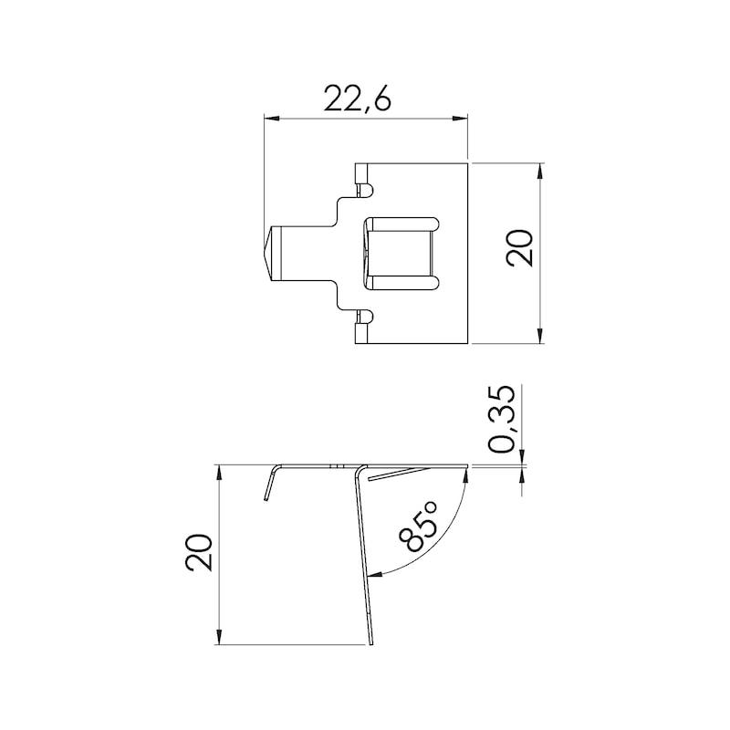 Sockelblendendruckfeder - 2