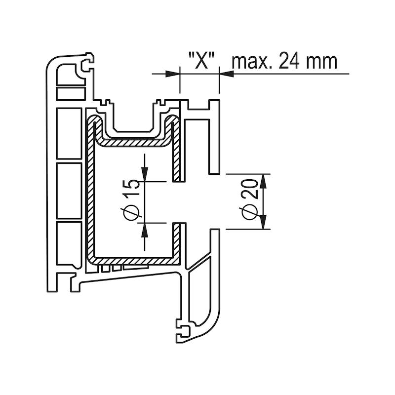 Befestigungssatz Typ B für Edelstahl-Stoßgriff - 2