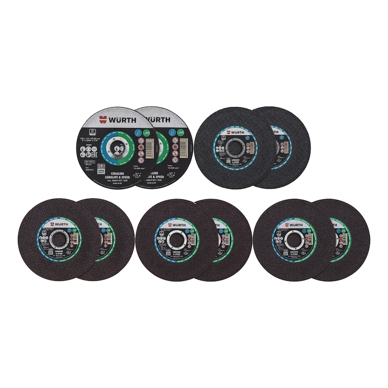 Cutting discs test set Longlife & Speed Limited edition