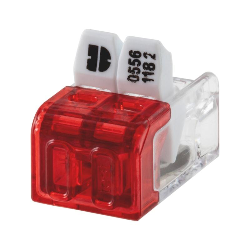 ELMO<SUP>®</SUP> Verbindungsklemme schraublos Mini Plus - STEVERB-LTG-FLEX/STARR-2X(0,2-2,5QMM)
