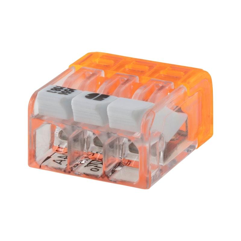 ELMO<SUP>®</SUP> Verbindungsklemme schraublos Mini Plus - STEVERB-LTG-FLEX/STARR-3X(0,2-2,5QMM)