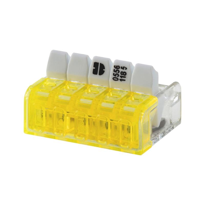 Connecteur Mini pour fil souple/rigide ELMO<SUP>®</SUP> Compact plus - CONN. MINI SPLE/RGDE 5E.KOMPAKT PLUS