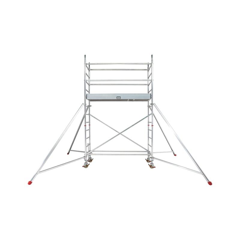 Echafaudage roulant en aluminium plateau 2m - 2