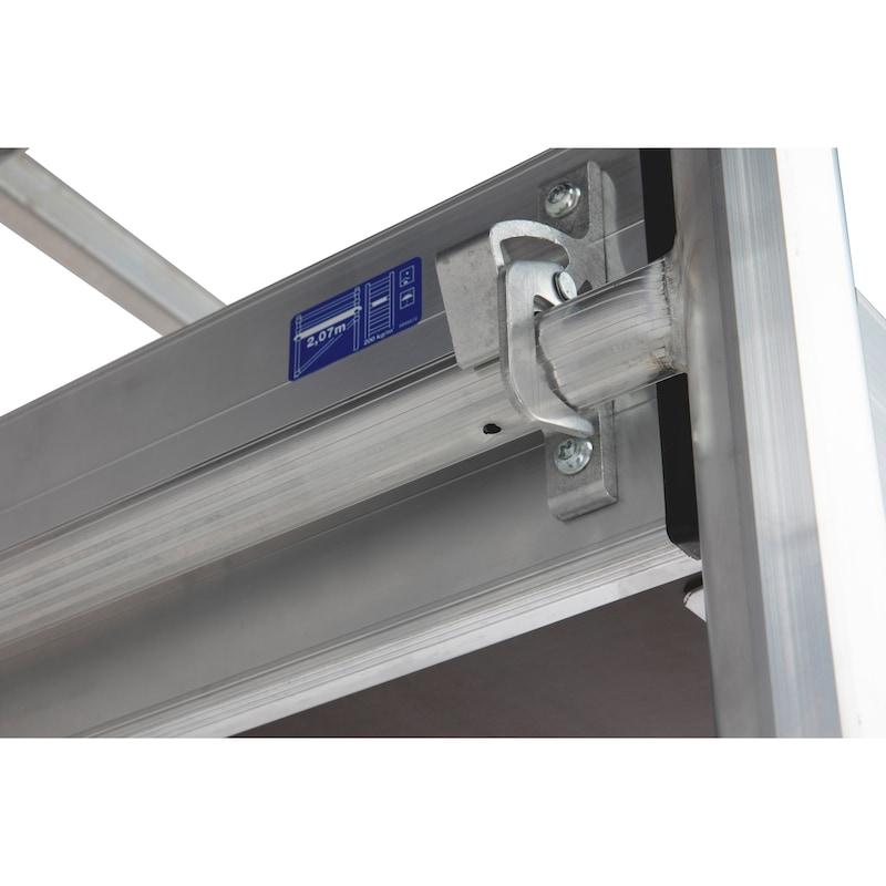 Echafaudage roulant en aluminium plateau 2m - 8