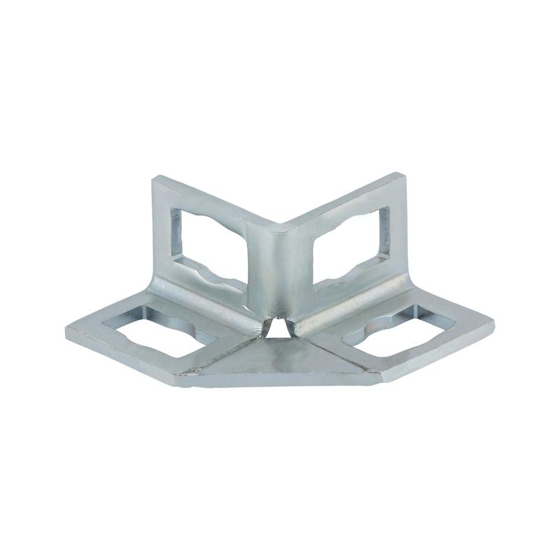 VARIFIX<SUP>®</SUP> Winkelverbinder 90° mit 4 Langlöchern für Powerknopf System 41 - 1