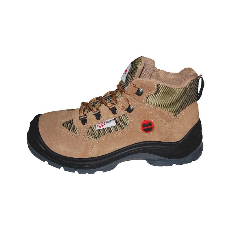 S1-P Boğazlı iş güvenliği ayakkabısı - süet bej - S1P İŞ GÜV.AYAKKABISI BOĞAZL.SÜET BEJ 47