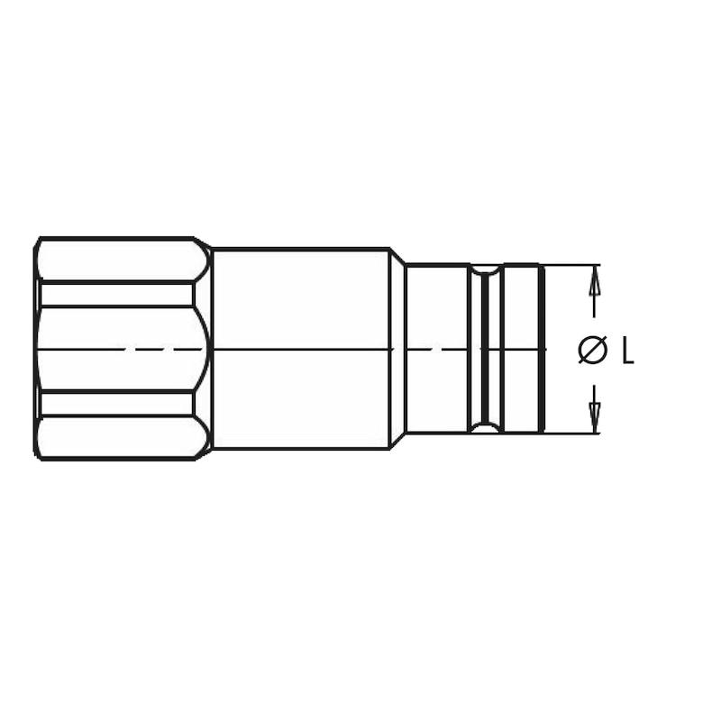 Innesto rapido maschio tenuta faccia piana FFX - IN-RAP-MAS-T.P.-FFX-FIL.GAS-1