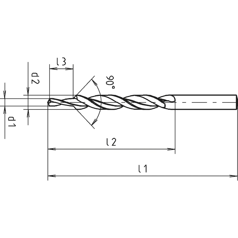 Mehrfasen-Stufenbohrer, DIN 8378, RN-mittel, 90° - 2