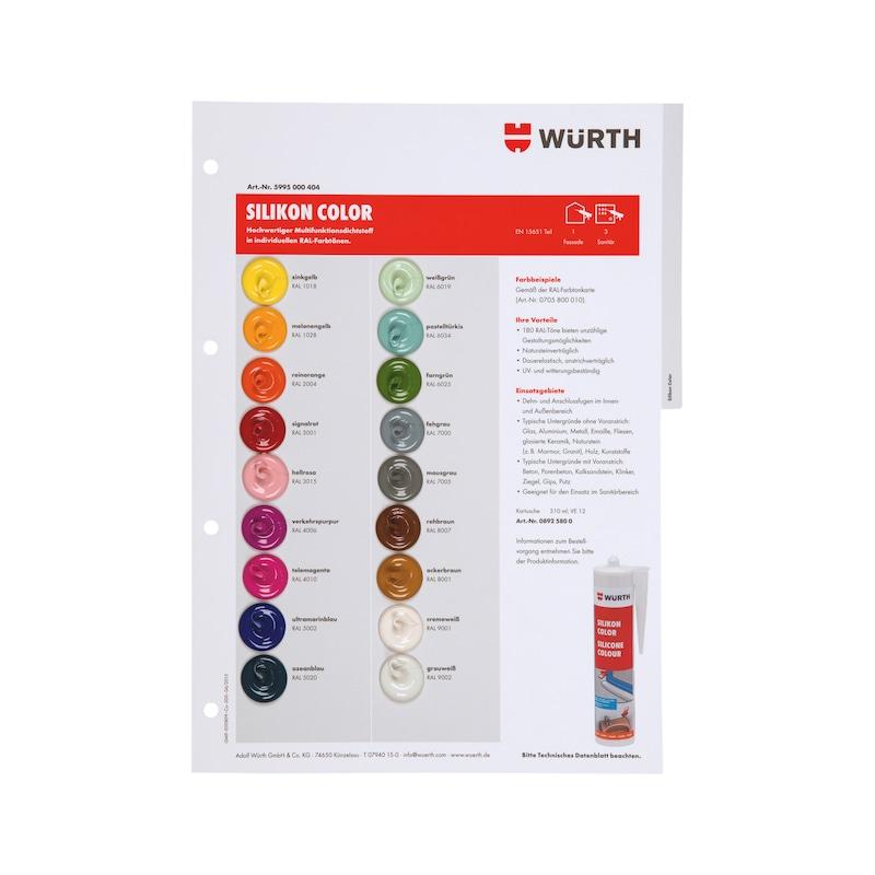 Farbmusterkarte Dichtstoffe - FARBMUSTER-DI-TAFEL-A4-(SIL-COLOR)