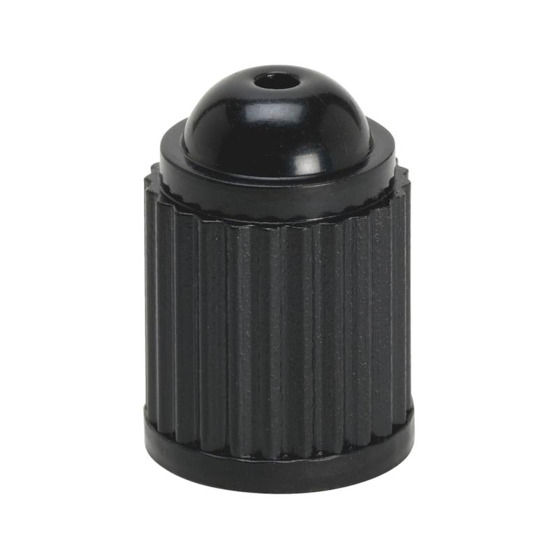 Bouchon de valve en plastique noir sans joint - BOUCHONS PLASTIQUES.