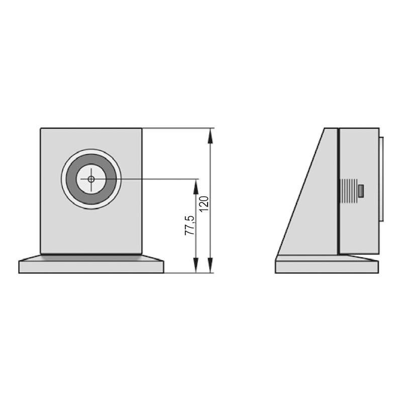 Haftmagnet THM 413 für Schließfolgeregelungen und Feststellanlagen - 2