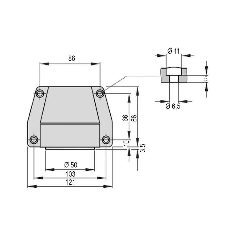 Haftmagnet THM 413 für Schließfolgeregelungen und Feststellanlagen - 3