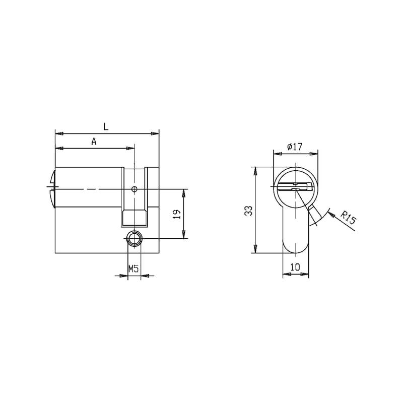 Profil-Halbzylinder W10KG - 2
