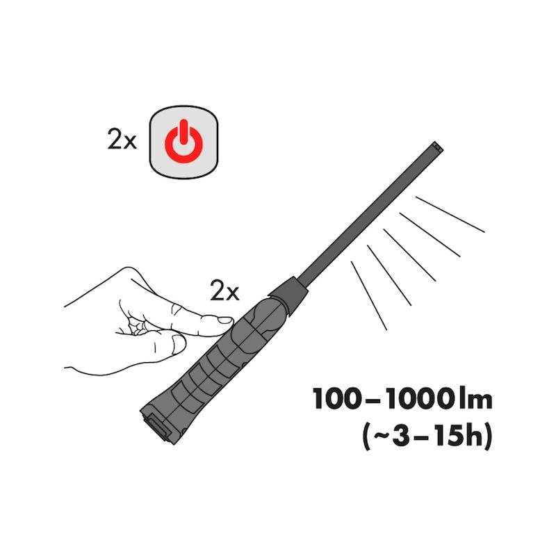 Lampada portatile ricaricabile a LED ERGOPOWER TWINBLADE+ - LAMPADA-PORT-RICARIC-LED-TWINBLADE IP20