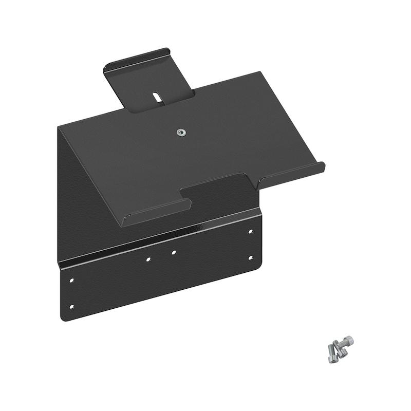 Tablet-laitteen / kannettavan tietokoneen teline kannettavien tietokoneiden ja tablet-laitteiden säilytykseen työkaluvaunussa - TYÖKALUVAUNUN TIETOKONE TELINE
