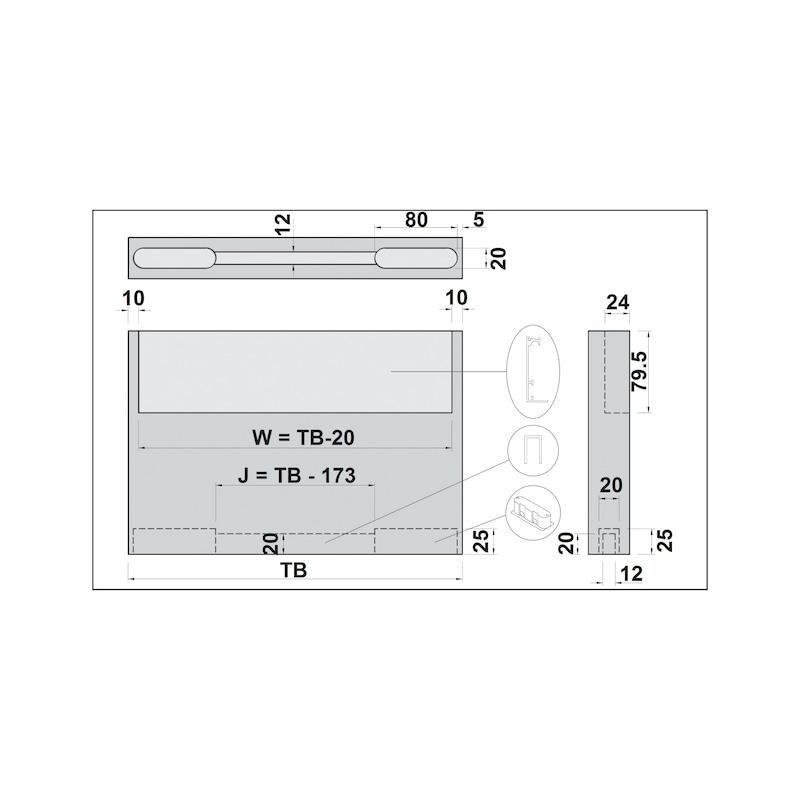 Zimmerschiebetürbeschlag H-80-900 80 kg - 10