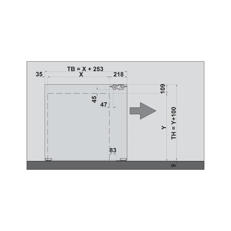 Zimmerschiebetürbeschlag H-80-900 80 kg - 7