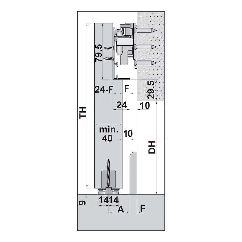 Zimmerschiebetürbeschlag H-80-900 80 kg - 5