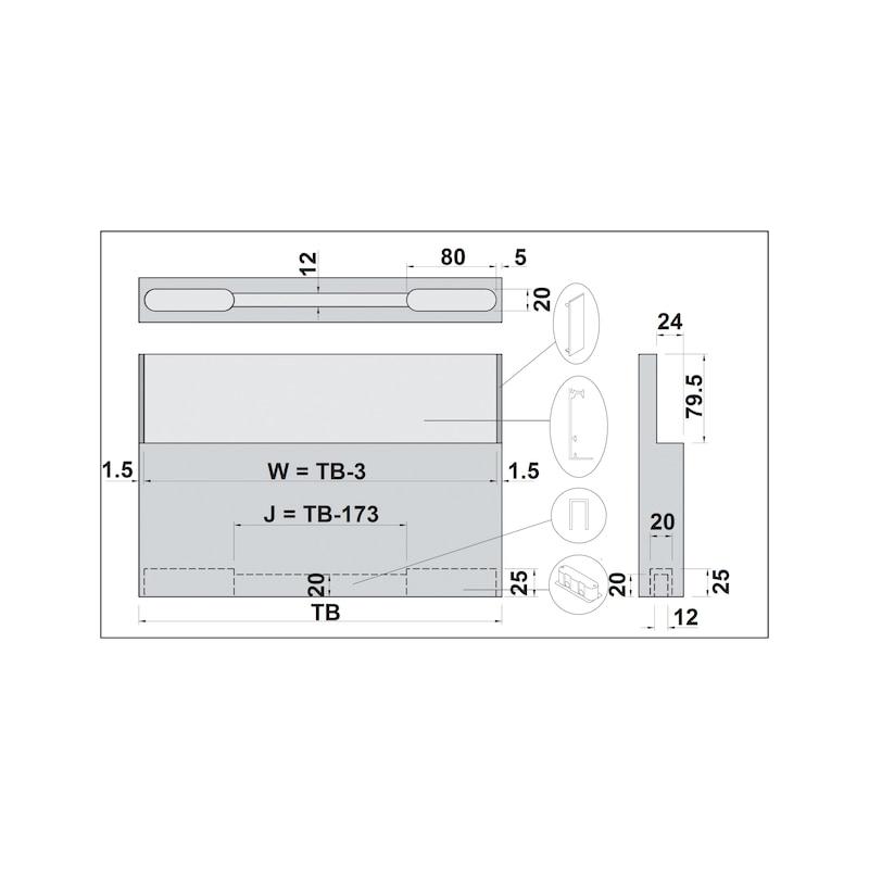 Zimmerschiebetürbeschlag H-80-900 80 kg - 9