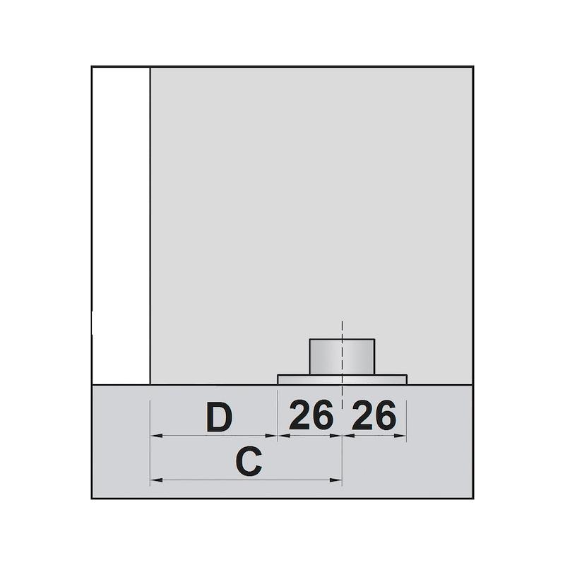 Zimmerschiebetürbeschlag H-80-900 80 kg - 3