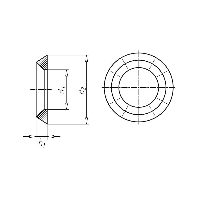 Rosette - ROS-A4-11,0X28,0X5,5