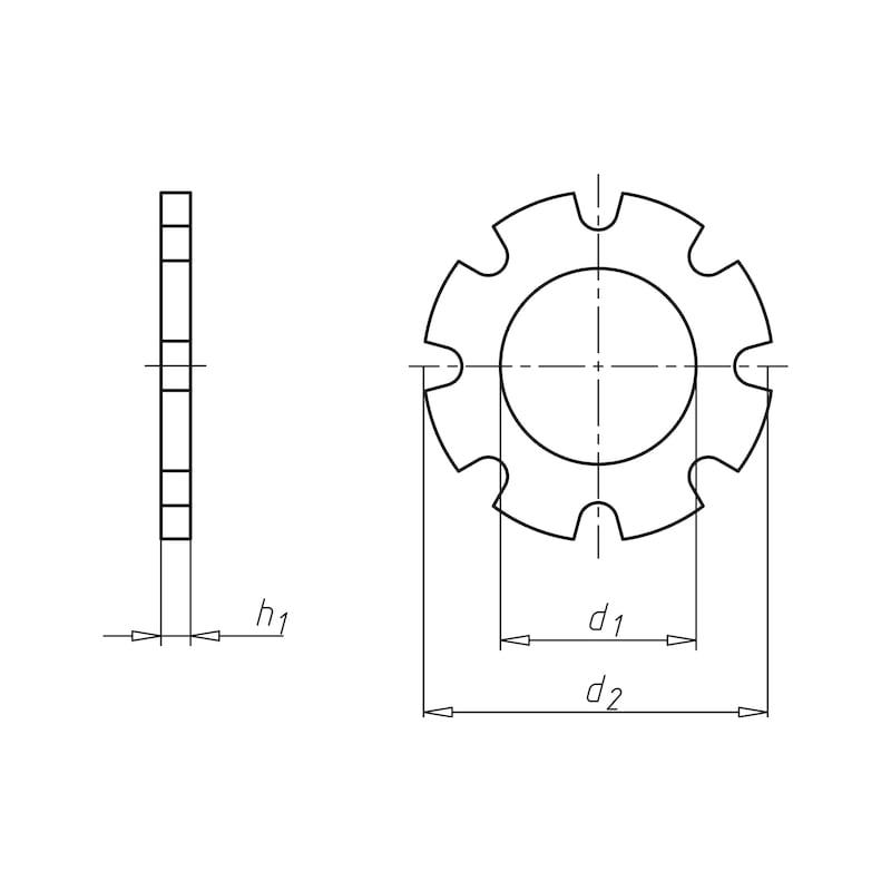 Zahnscheibe außengezahnt Form A - SHB-ZA-DIN6797-AZ-D17,0