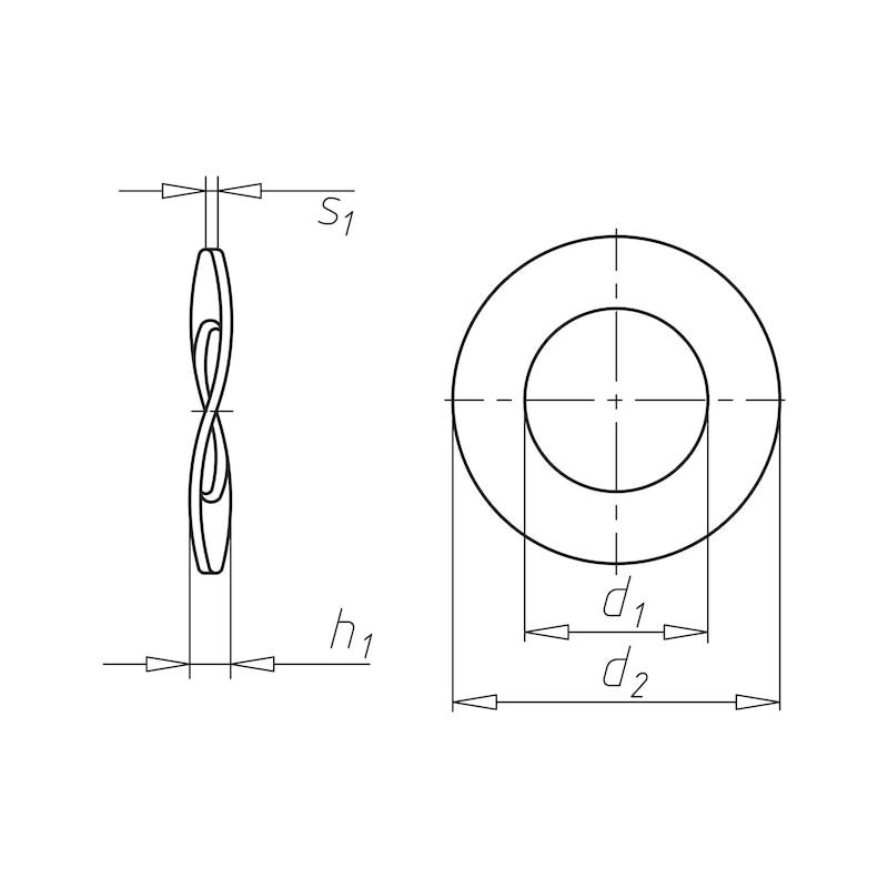 Rondella di sicurezza elastica Forma B - 2