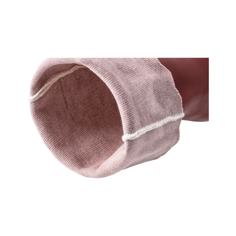 Chemical protective glove PVC w. backing fabric - REKAWICE CHEMICZNE PVC 350MM R.9