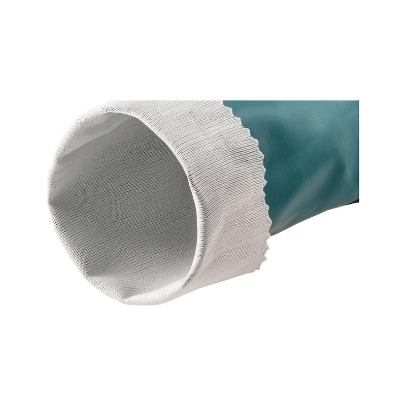 Gant de protection chimique en nitrile avec tissu de renfort - 3