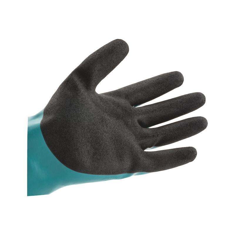 Gant de protection chimique en nitrile avec tissu de renfort - 2