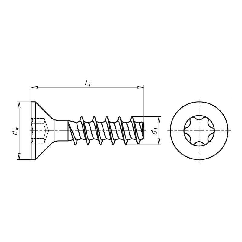 WÜPLAST<SUP>®</SUP> Senkkopfschraube mit Innensechsrund - SHR-SEKPF-W1423-T8-10.9-(A3K)-3X13
