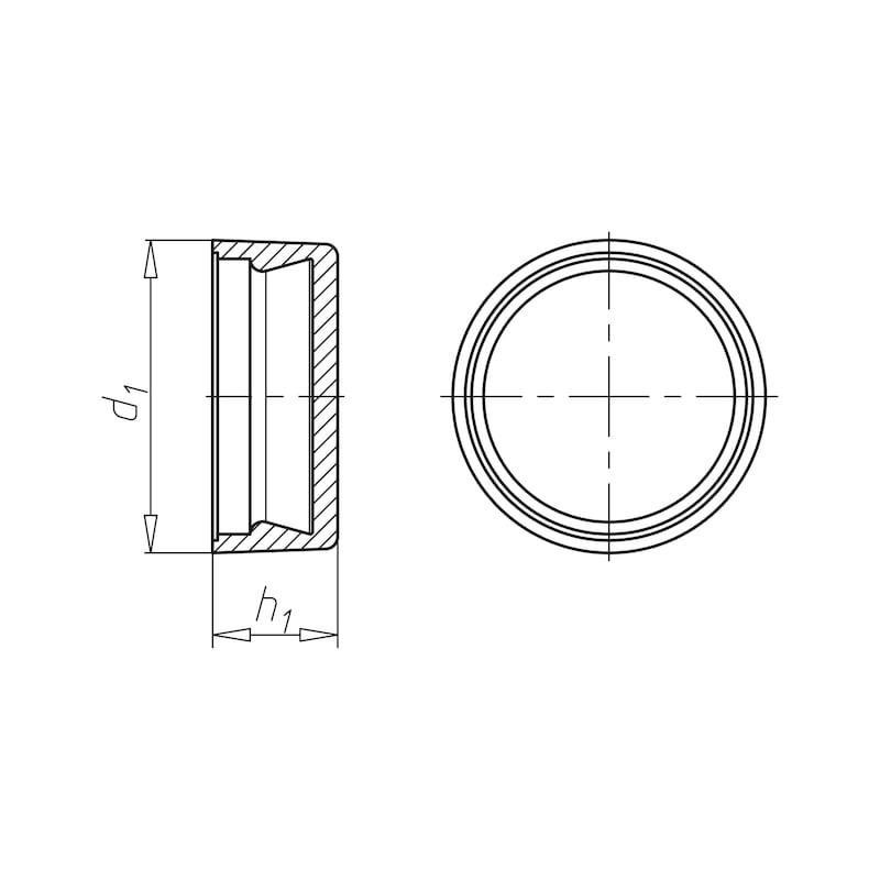 Abdeckkappe für Nummernschildschraube - 2