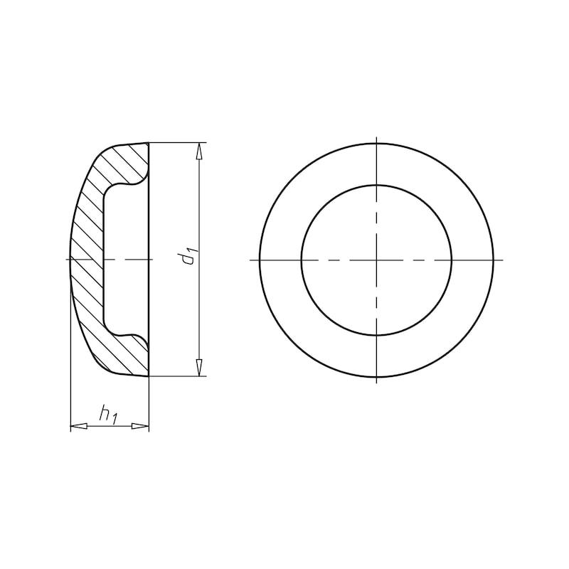 Abdeckkappe für Fassadenbauschraube - 2