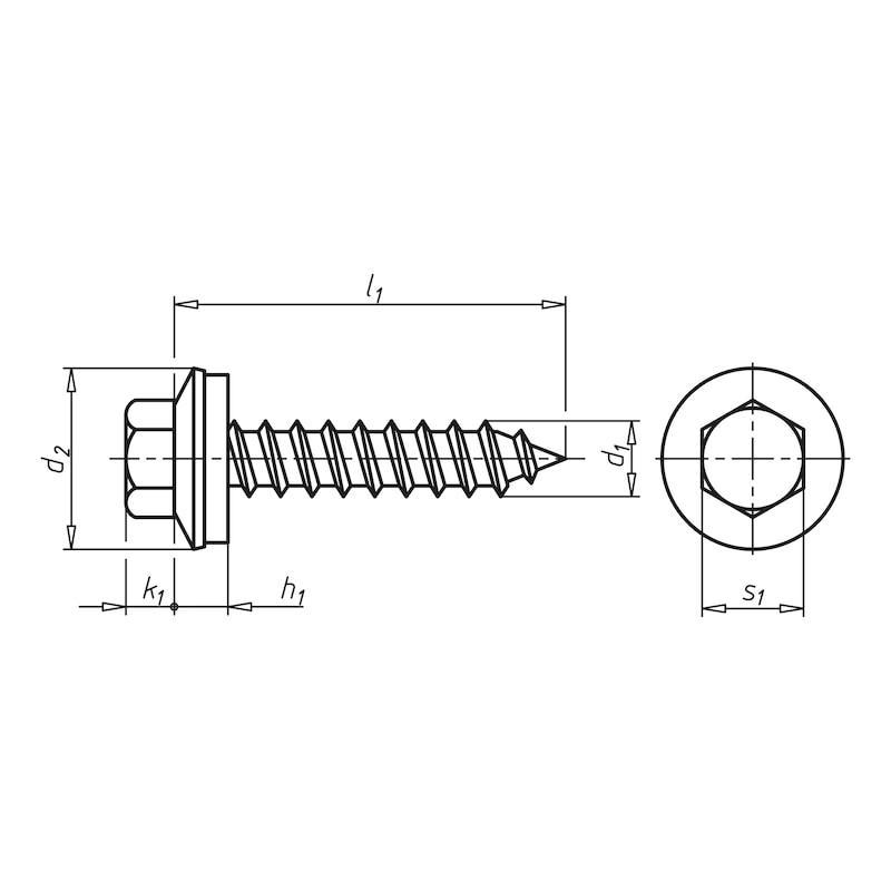 Fassadenbauschraube mit Sechskantkopf und Dichtscheibe Faba<SUP>®</SUP> Typ A - 2