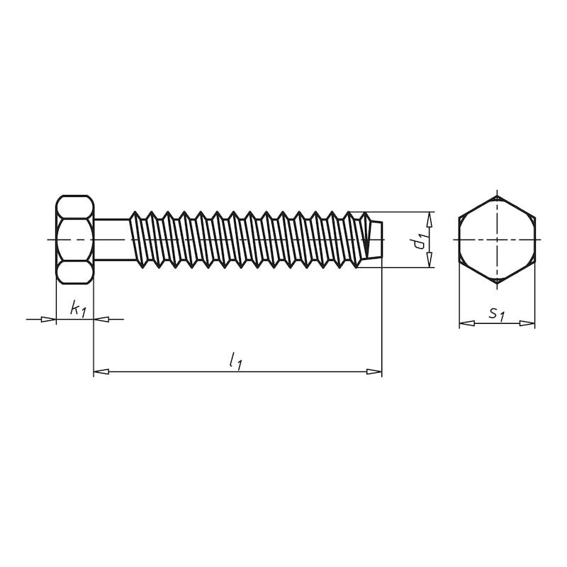 Fassadenbauschraube mit Sechskantkopf Faba<SUP>®</SUP> Typ BZ - 2