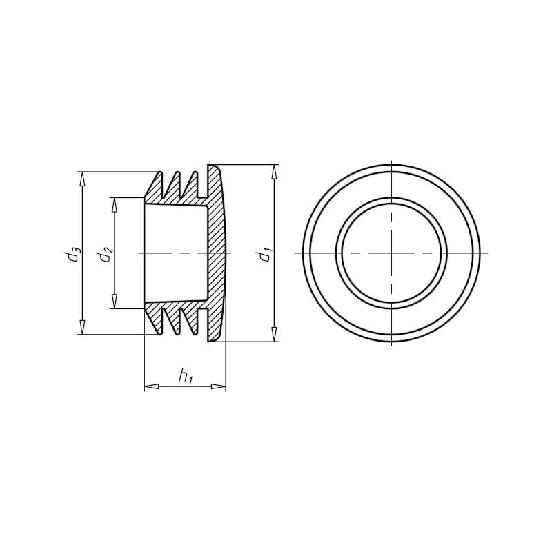 Защитный колпак для оконного производства - КОЛПАЧОК-БЕЛ.-D10,5