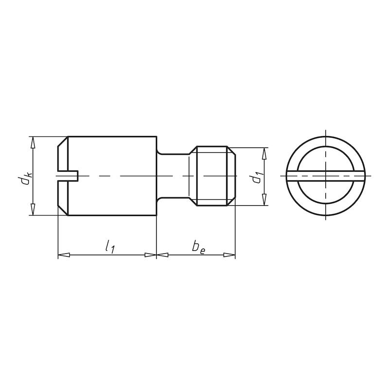 Zapfenstift mit Gewinde und Schlitz - SHR-DIN927-14H-M6X10