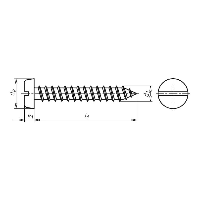 Zylinder-Blechschraube Form C mit Schlitz