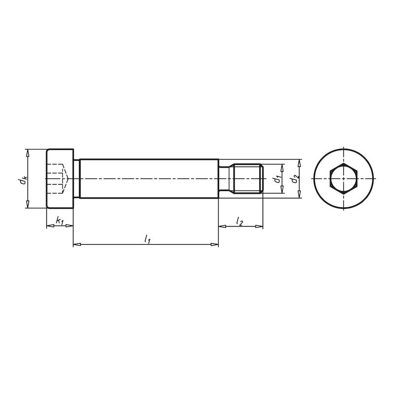 Винт с цилиндрической головкой, внутренним шестигранником и утолщенным стержнем - ВИНТ-ISO7379-012.9-H8-DS12-M10X16