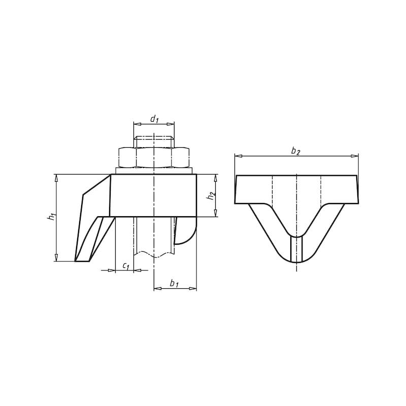 Zacisk dźwigara Typ BD - 2