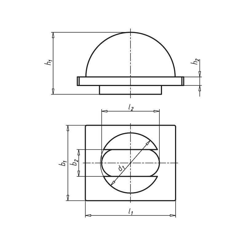 Kurvenstück für Spannelement Bostra - 2