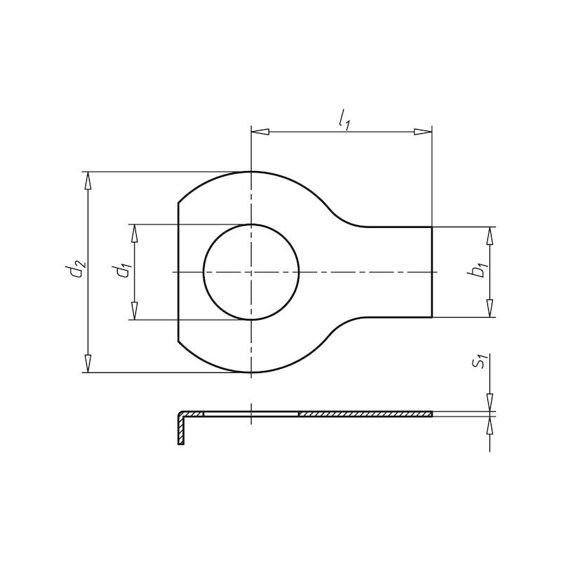 Rondella di sicurezza con linguette - LOKPLT-TAB-DIN93-D15,0